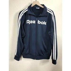 Vintage 90s Reebok Spell Out Jacket L